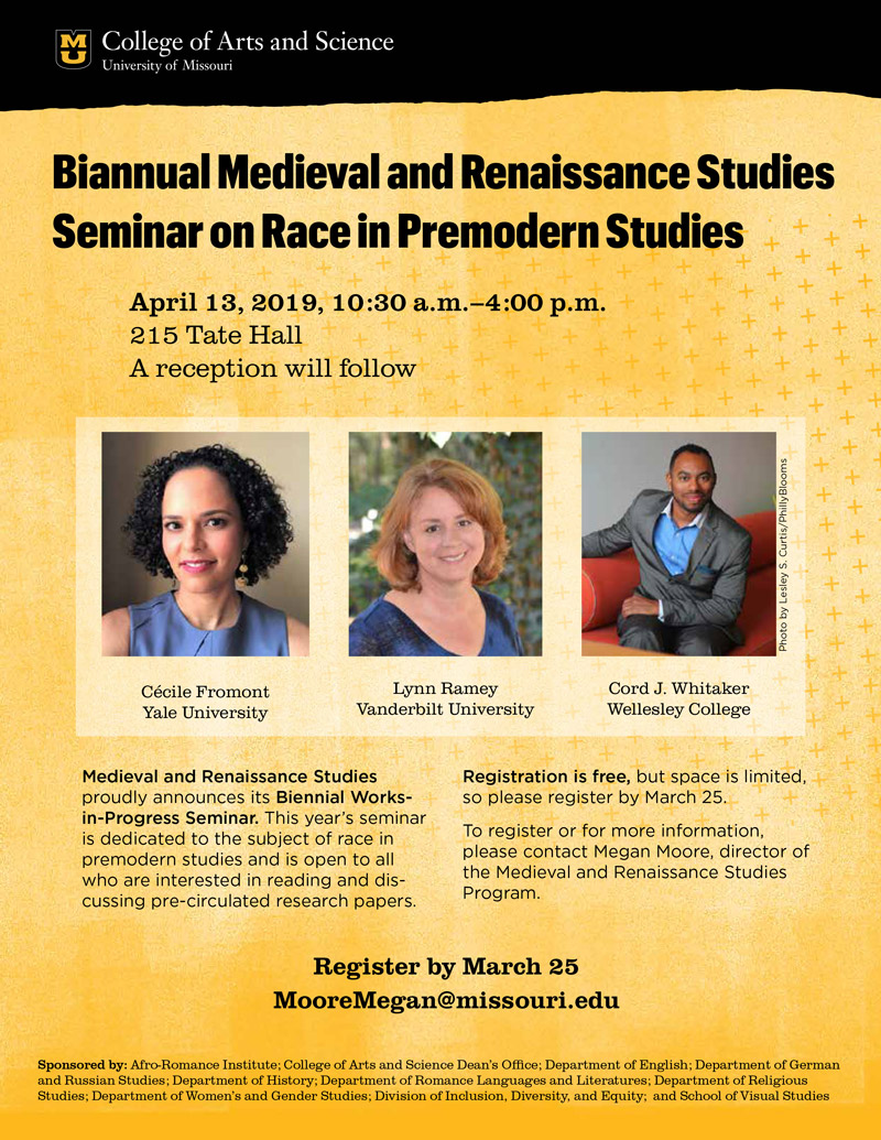 2019 Biannual MARS seminar on Race in Premodern Studies